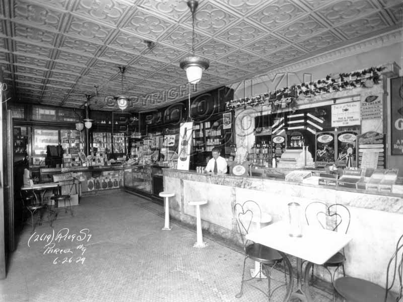 Interior of Freidin's, southeast corner of McDonald Avenue and Avenue C, 1929 Old Vintage Photos and Images