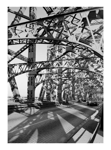 interior view of Queensboro Bridge - looking towards Queens Old Vintage Photos and Images