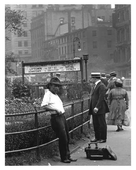 IRT entrance at Union Square Park , NY  1922 I Old Vintage Photos and Images