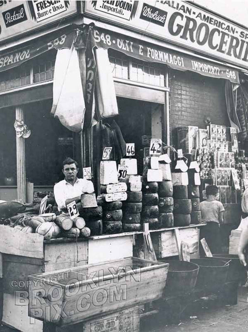 Italian-American-Spanish Grocery, corner Union and Hicks Streets, 1935 Old Vintage Photos and Images