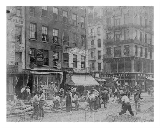 Italian Laborers Irish Boss Manhattan NYC Old Vintage Photos and Images
