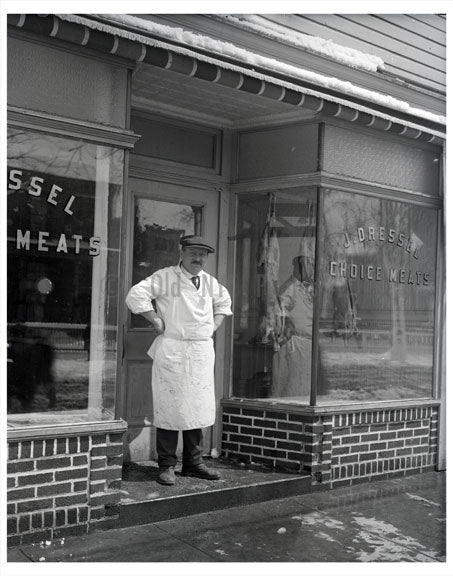 J. Dressel - 'Choice Meats' Old Vintage Photos and Images