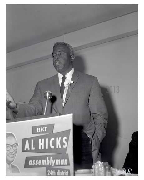Jackie Robinson Campaigning 1960s