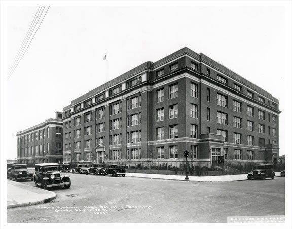 James Madison High School  - Bedford Ave and Quentin Rd. circa 1920 Old Vintage Photos and Images