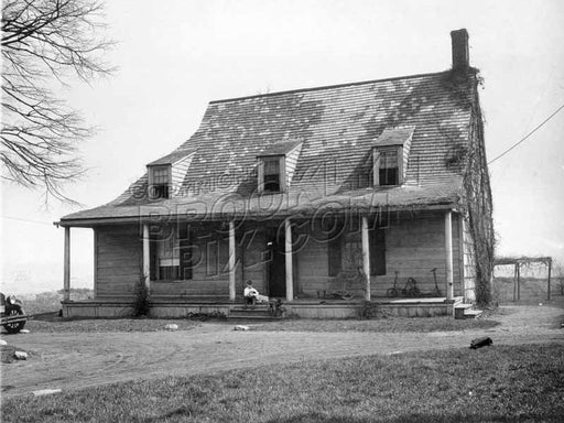 Jan Martense Schenck Farmhouse, East 63rd Street and Avenue U, now reassembled in Brooklyn Museum, c.1930 Old Vintage Photos and Images