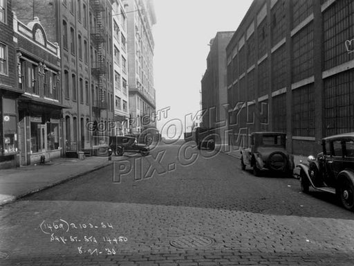 Jay Street looking north to Plymouth Street, 1930 Old Vintage Photos and Images