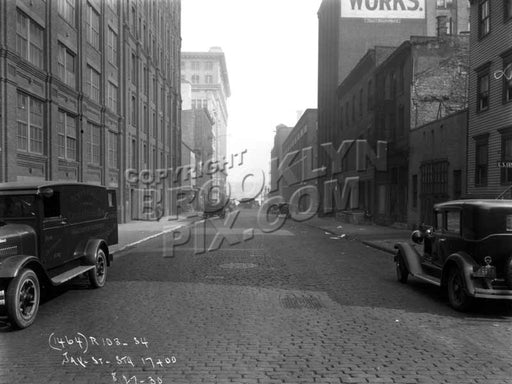 Jay Street looking north to Water Street, 1930 DUMBO Old Vintage Photos and Images