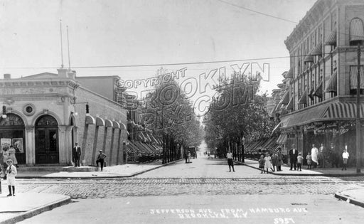 Jefferson Avenue at Wilson Avenue, 1908 Old Vintage Photos and Images