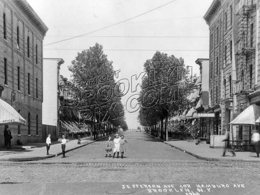 Jefferson Avenue looking north from Wilson Avenue, 1908 Old Vintage Photos and Images