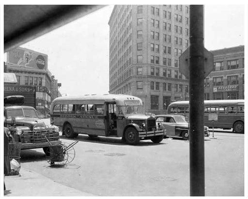 Jersey City Bus 1948 NJ C Old Vintage Photos and Images