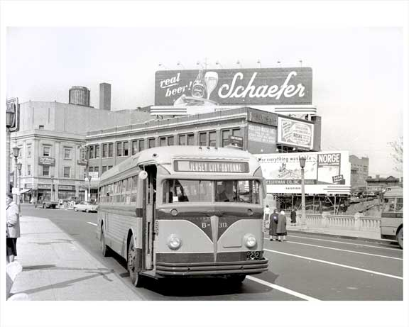 Jersey City Bus 1948 NJ B Old Vintage Photos and Images