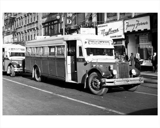 Jersey City Bus - Bergen Ave 1948 NJ Old Vintage Photos and Images