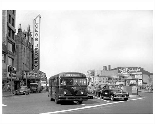 Jersey City Bus - Central Avenue 1948 NJ B Old Vintage Photos and Images