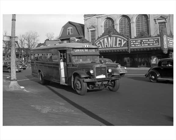 Jersey City Bus - Central Avenue 1948 NJ C Old Vintage Photos and Images