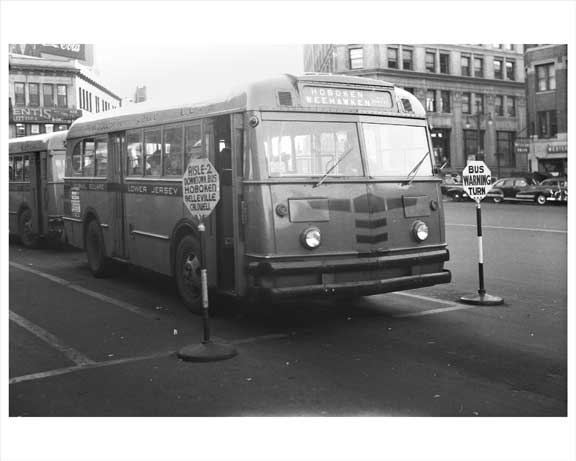 Jersey City Bus - Hoboken 1948 NJ Old Vintage Photos and Images