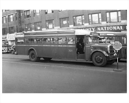 Jersey City Bus - Lyndhurst  1948 NJ Old Vintage Photos and Images