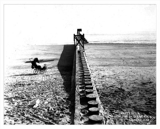 Jetty #2 beach by Ocean Parkway West Old Vintage Photos and Images
