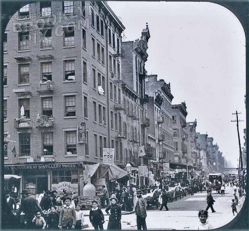 Jewish ghetto in the Lower East Side, 1895 Old Vintage Photos and Images