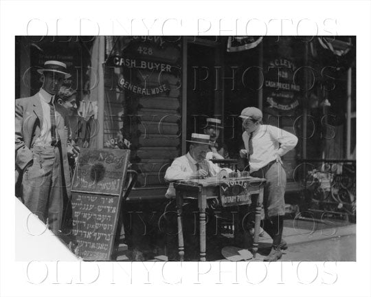 Jewish Letter Writer Manhattan NYC Old Vintage Photos and Images
