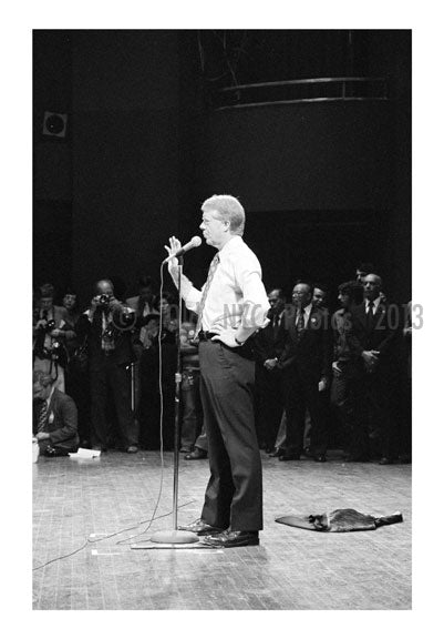 Jimmy Carter speaking at  Brooklyn College for a Campaign stop A Old Vintage Photos and Images