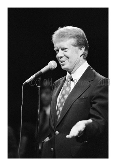 Jimmy Carter speaking at  Brooklyn College for a Campaign stop B Old Vintage Photos and Images
