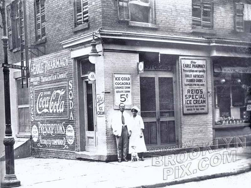 John D. Earle's drug store, southeast corner Hudson Avenue at Bolivar Street Old Vintage Photos and Images