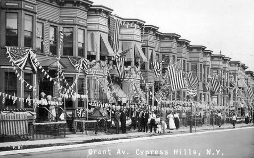 July 4, 1915 on Grant Avenue, Cypress Hills Old Vintage Photos and Images