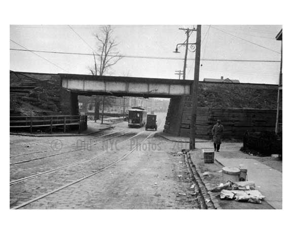Junction Avenue South at 44th Street 1928 - Sunnyside -  Queens NY Old Vintage Photos and Images