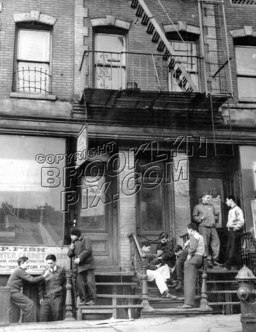 Juvenile Delinquents at 346 Rockaway Avenue, c.1950 Old Vintage Photos and Images