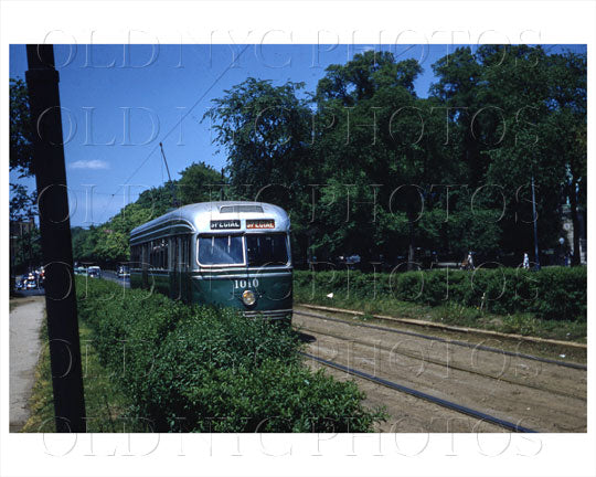 Kensington Brooklyn Trolley PCC East Flatbush, NYC 1956 Old Vintage Photos and Images