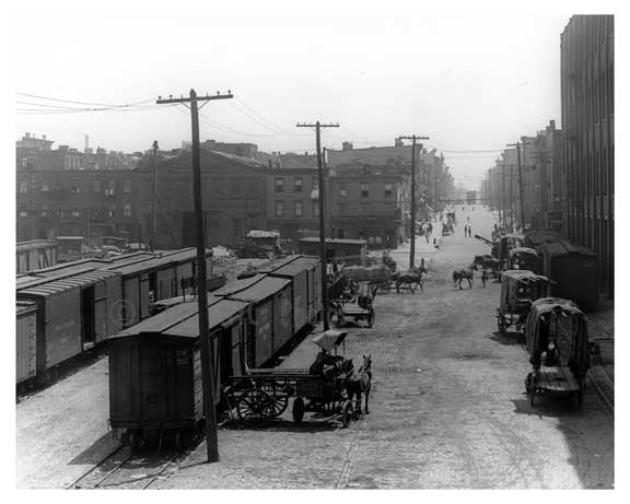 Kent Ave looking east toward North 7th Street - Williamsburg - Brooklyn, NY  1918 Old Vintage Photos and Images