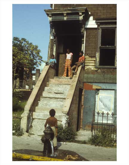 Kids on Alabama Ave 2 -  East New York Brooklyn NY Old Vintage Photos and Images