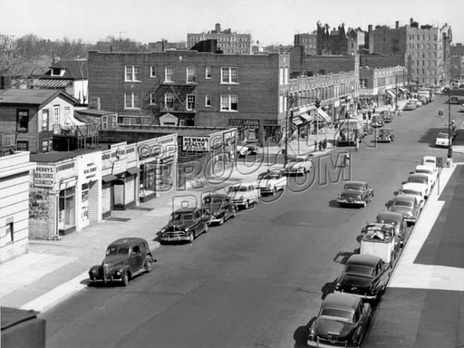 Kings Highway looking east from elevated Culver Line at McDonald Avenue, 1954 Old Vintage Photos and Images