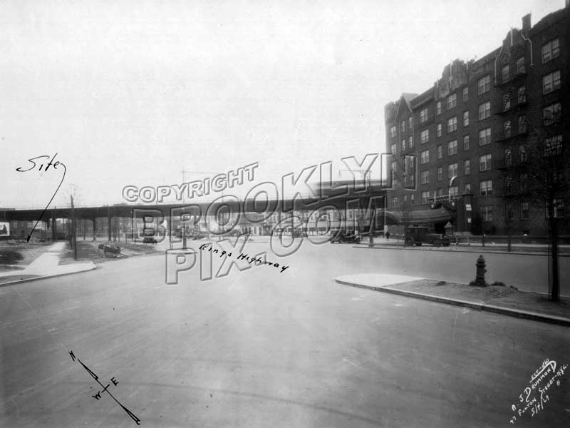Kings Highway looking northeast to East 98th Street, 1929 Old Vintage Photos and Images