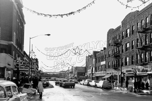 Kings Highway looking west from East 18th Street at the Avalon Theater, 1964 Old Vintage Photos and Images