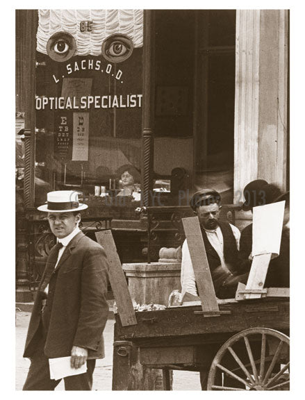 L. Sachs, Optometrist 85 Delancy Street, 1907 Old Vintage Photos and Images