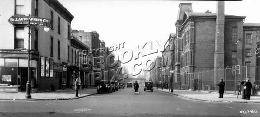 Lafayette Avenue west from Classon Avenue, 1931 Old Vintage Photos and Images