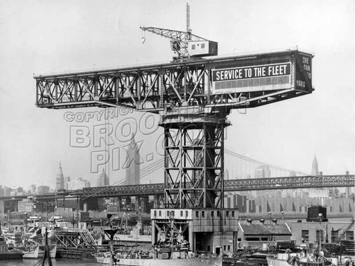 Large crane at Navy Yard, c.1965 Old Vintage Photos and Images