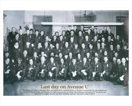 Last Day for the 61st Precinct on 15th Street & Avenue U - Sheepshead Bay, Brooklyn Old Vintage Photos and Images