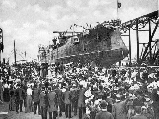 "Launch of the ""Connecticut,"" September 29, 1904 Old Vintage Photos and Images"