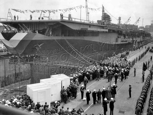 Launching USS Franklin D. Roosevelt, April 29, 1945 Old Vintage Photos and Images