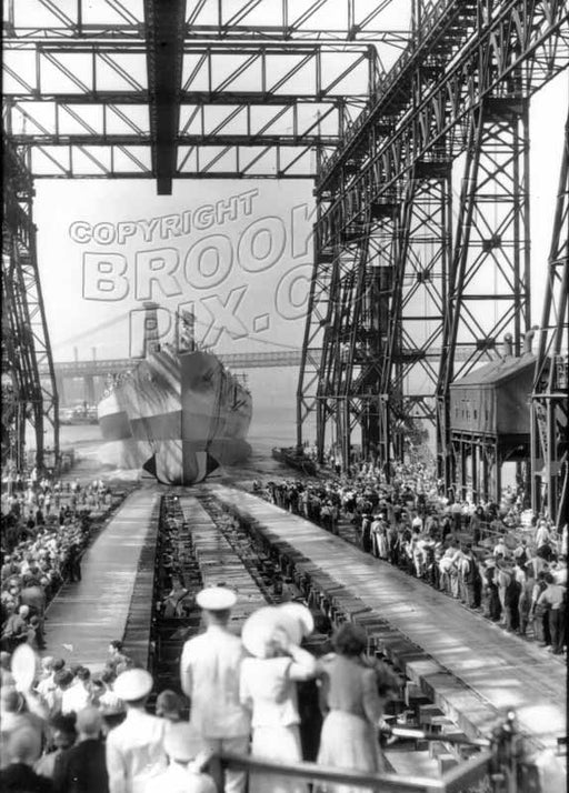 Launching USS North Carolina, April 9, 1941 Old Vintage Photos and Images