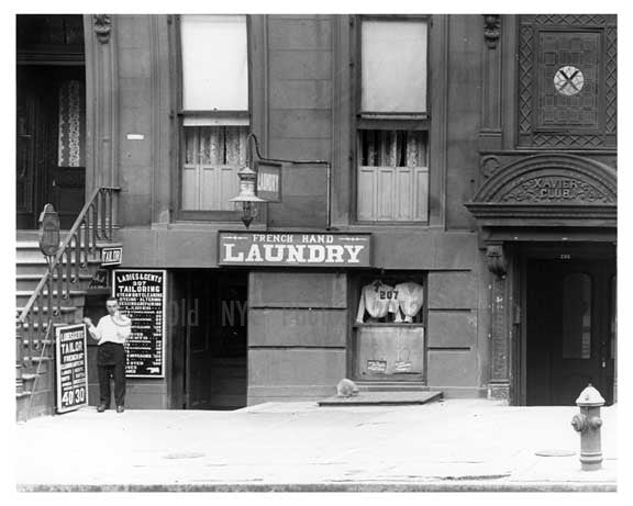 Laundry Services on 22nd Street & 7th Avenue - Midtown - Manhattan  1914 Old Vintage Photos and Images