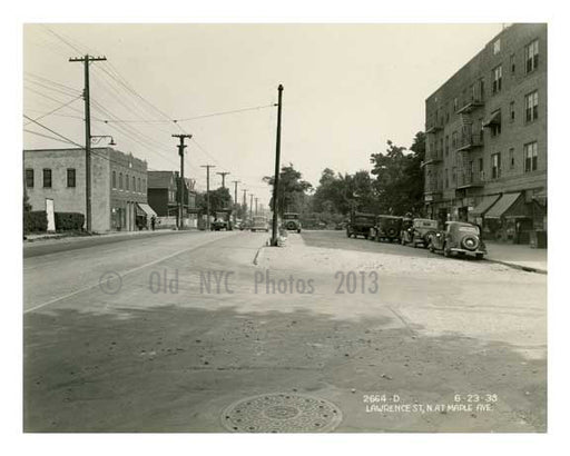 Lawerence & Maple Ave Flushing Queens 1938 Old Vintage Photos and Images
