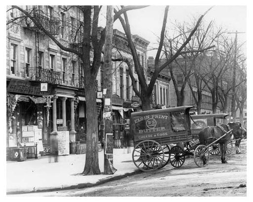 Lenox & 126th Street Horse & Wagons lined the streets in Harlem NY 1901 Old Vintage Photos and Images
