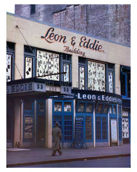 Leon Eddie 33 West 52nd Street 1950 Old Vintage Photos and Images