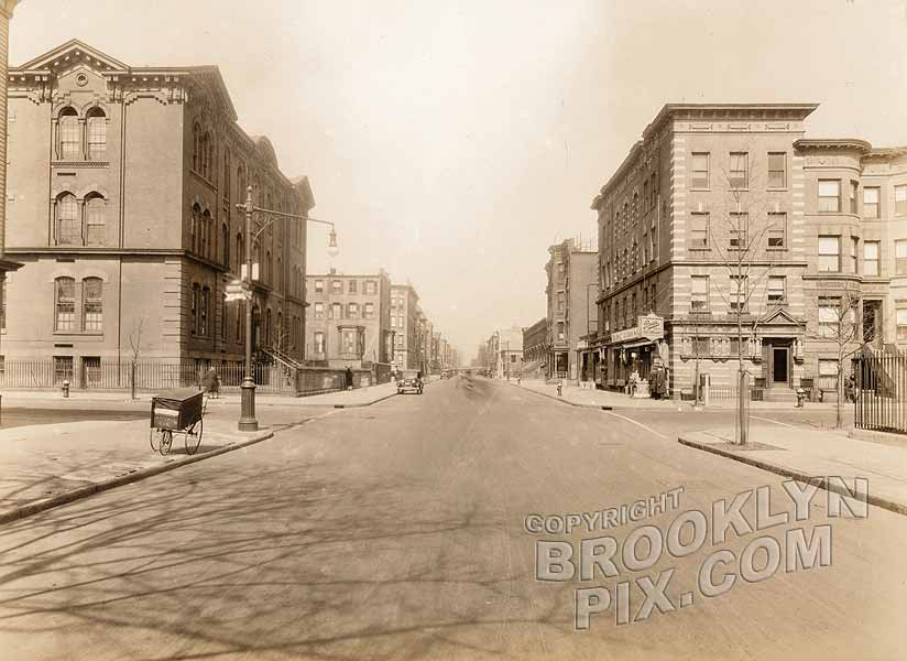 Lewis Avenue north to Decatur Street and PS 35, 1929