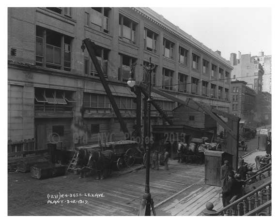Lexington Ave Plant - Greenwich Village - Manhattan  1914 Old Vintage Photos and Images