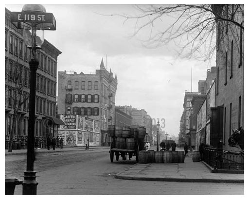Lexington Avenue & 119th Street 1911 - Upper East Side, Manhattan - NYC L6 Old Vintage Photos and Images