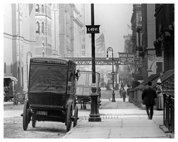 Lexington Avenue & 40th  Streets 1911 - Upper East Side, Manhattan - NYC Old Vintage Photos and Images